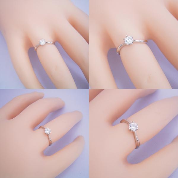 アームデザインが新しいティファニーセッティングの婚約指輪