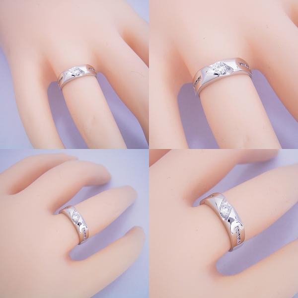 適度にスタイリッシュなデザインの婚約指輪