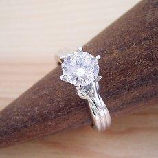 画像2: 1カラット版:アームの処理が新しい婚約指輪 (2)