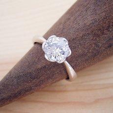 画像2: 1カラット版:フラワーデザイン伏せこみタイプの婚約指輪 (2)
