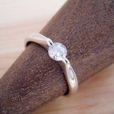 画像2: 2点留め伏せこみタイプの婚約指輪 (2)