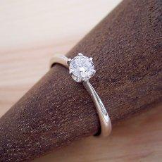 画像2: 6本爪ティファニーセッティングタイプの婚約指輪 (2)