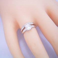 画像5: 1カラット版:1本の指輪なのに重ね着けしているような婚約指輪 (5)