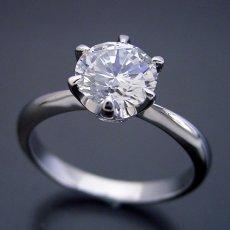 画像3: 1カラット版:6本爪ティファニーセッティングタイプの婚約指輪 (3)