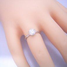 画像5: 1カラット版:6本爪ティファニーセッティングタイプの婚約指輪 (5)
