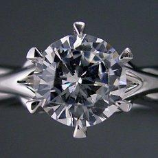 画像4: 1カラット版:アームの処理が新しい婚約指輪 (4)