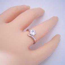 画像6: 1カラット版:6本爪Vラインタイプの婚約指輪 (6)