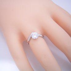 画像7: 1カラット版:6本爪Vラインタイプの婚約指輪 (7)