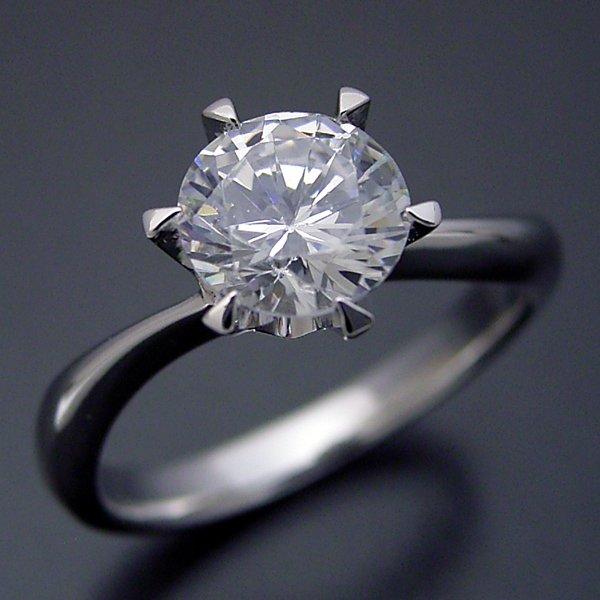 meet e0649 50cdd 1カラット版:アームデザインが新しいティファニーセッティングの婚約指輪