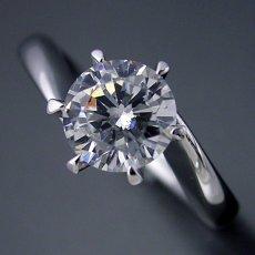 画像4: 1カラット版:流れるデザインの6本爪タイプの婚約指輪 (4)