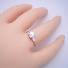 画像6: 1カラット版:6本爪サイドメレスリーストーンタイプの婚約指輪 (6)