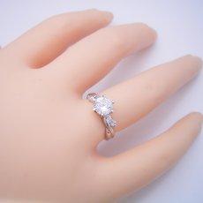 画像5: 1カラット版:天使の羽デザイン6本爪の婚約指輪 (5)