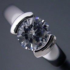 画像4: 1カラット版:ごつしっかり伏せこみタイプの婚約指輪 (4)