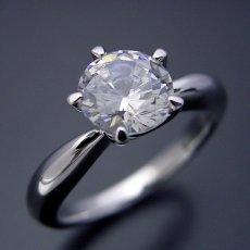 画像2: 1カラット版: 珍しい5本爪の婚約指輪 (2)
