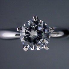 画像3: 1カラット版: 珍しい5本爪の婚約指輪 (3)