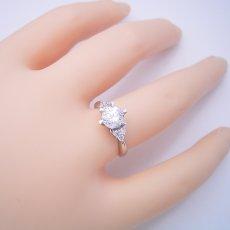 画像5: 1カラット版:6本爪ゴージャスデザインの婚約指輪 (5)