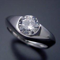 画像3: 1カラット版:少し変わった伏せこみタイプの婚約指輪 (3)