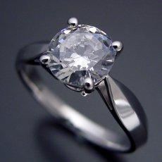 画像3: 1カラット版:4本爪の新しいデザインの婚約指輪 (3)