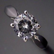 画像4: 1カラット版:4本爪の新しいデザインの婚約指輪 (4)