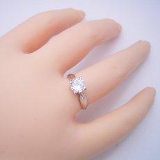 画像6: 1カラット版:4本爪の新しいデザインの婚約指輪 (6)
