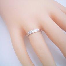画像5: シンプルなクロスラインのダイヤモンド入り結婚指輪 (5)