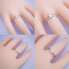 画像6: 1本の指輪なのに重ね着けしているような婚約指輪 (6)