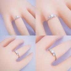 画像6: 6本爪サイドメレデザインの婚約指輪 (6)