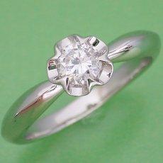画像2: リーフデザイン伏せこみタイプの婚約指輪 (2)
