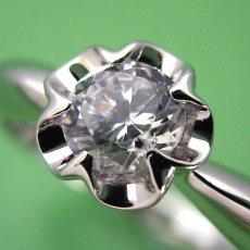 画像1: リーフデザイン伏せこみタイプの婚約指輪 (1)