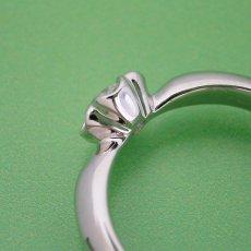 画像5: リーフデザイン伏せこみタイプの婚約指輪 (5)