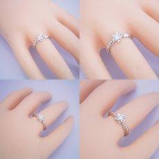 画像6: リーフデザイン伏せこみタイプの婚約指輪 (6)