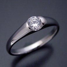 画像4: 甲丸リングにダイヤモンドを埋め込んだ婚約指輪 (4)
