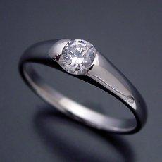 画像5: 甲丸リングにダイヤモンドを埋め込んだ婚約指輪 (5)
