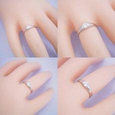 画像6: 甲丸リングにダイヤモンドを埋め込んだ婚約指輪 (6)