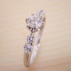 画像5: 6本爪サイド2Pメレデザインの婚約指輪 (5)