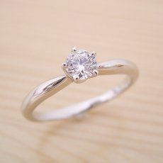 画像4: 珍しい5本爪の婚約指輪 (4)