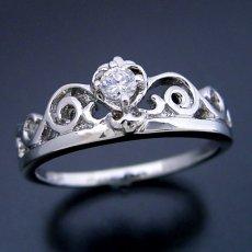 画像1: ティアラがモチーフの結婚指輪 (1)
