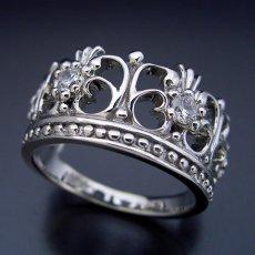 画像2: 豪華な王冠(クラウン)デザインの結婚指輪 (2)
