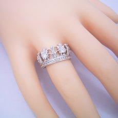 画像5: 豪華な王冠(クラウン)デザインの結婚指輪 (5)