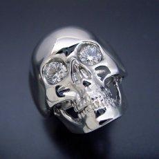 画像1: スカルをモチーフとした少し小さくて可愛い婚約指輪 (1)