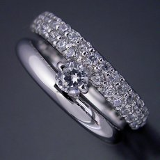 画像3: パヴェセッティングと甲丸リングを組み合わせた婚約指輪 (3)