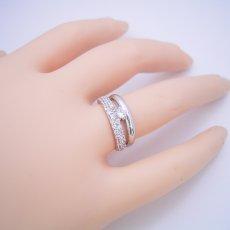 画像5: パヴェセッティングと甲丸リングを組み合わせた婚約指輪 (5)