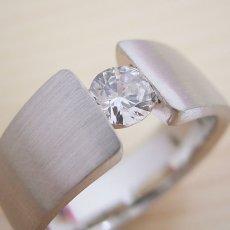 画像1: ワイドなアームの婚約指輪「極 type Book」 (1)