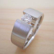 画像5: ワイドなアームの婚約指輪「極 type Book」 (5)