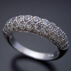 画像2: ダイヤモンドが輝くパベセッティングリング (2)