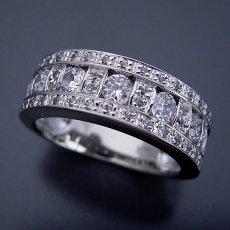 画像2: 地金とメレダイヤをふんだんに使ったハーフエタニティリング (2)