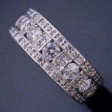 画像3: 地金とメレダイヤをふんだんに使ったハーフエタニティリング (3)