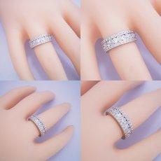 画像4: 地金とメレダイヤをふんだんに使ったハーフエタニティリング (4)