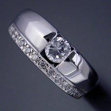 画像4: エタニティリングと組み合わせた婚約指輪 (4)