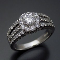 画像2: 豪華なのに上品な婚約指輪 (2)